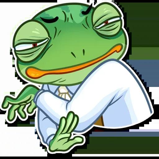 Banker Frog - Sticker 24