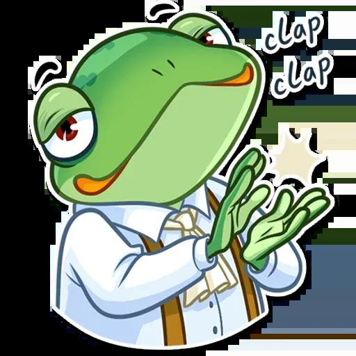 Banker Frog - Sticker 25