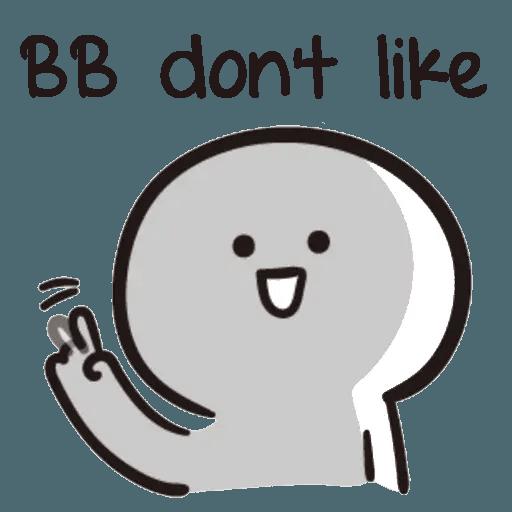 Bb never tell - Sticker 10