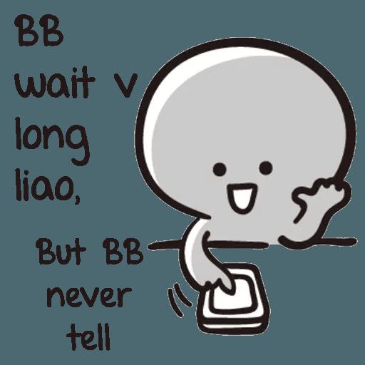 Bb never tell - Sticker 18