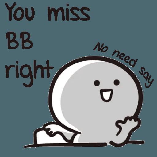 Bb never tell - Sticker 19