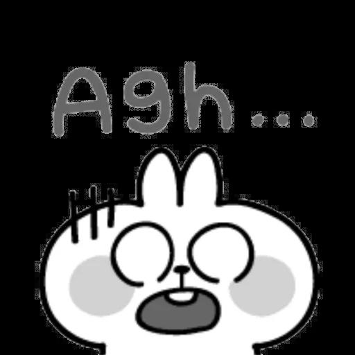 Spoiled rabbit emoji with word 2 - Sticker 8
