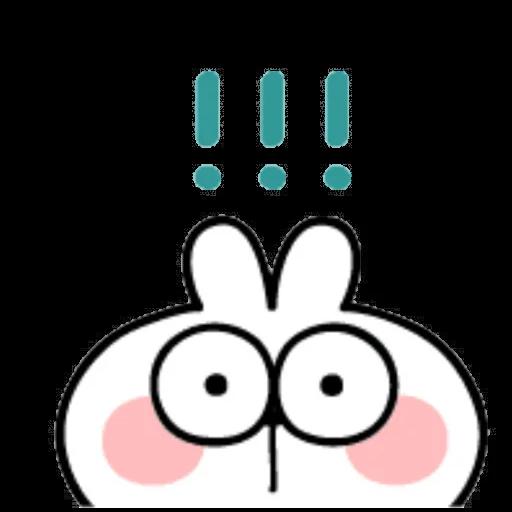 Spoiled rabbit emoji with word 2 - Sticker 9