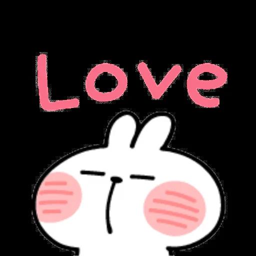 Spoiled rabbit emoji with word 2 - Sticker 17