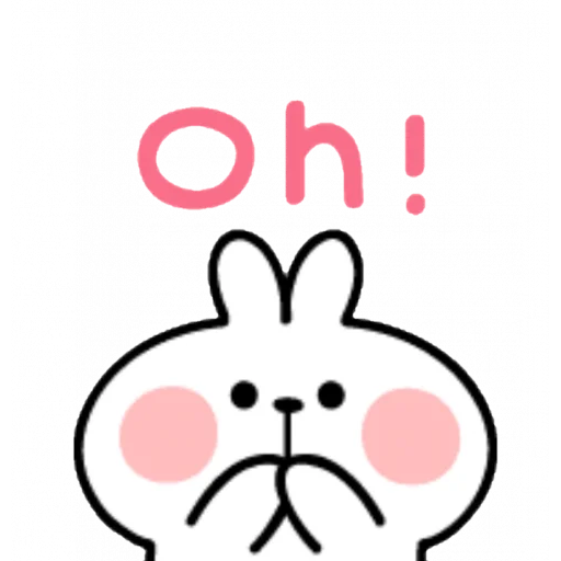 Spoiled rabbit emoji with word 2 - Sticker 3