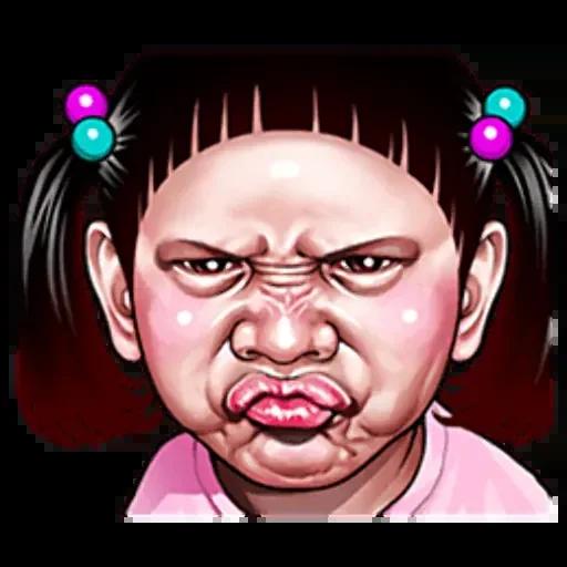 Ugly girl by haifa - Sticker 15