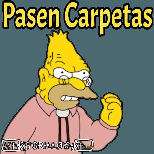 Abuelo Simpson - Sticker 11
