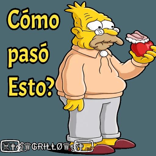 Abuelo Simpson - Sticker 18