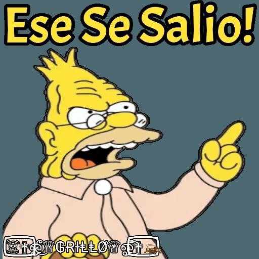 Abuelo Simpson - Sticker 28