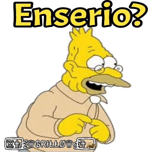 Abuelo Simpson - Sticker 26