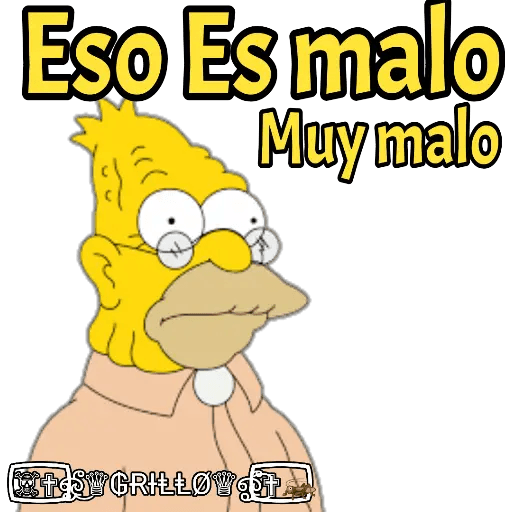 Abuelo Simpson - Sticker 17