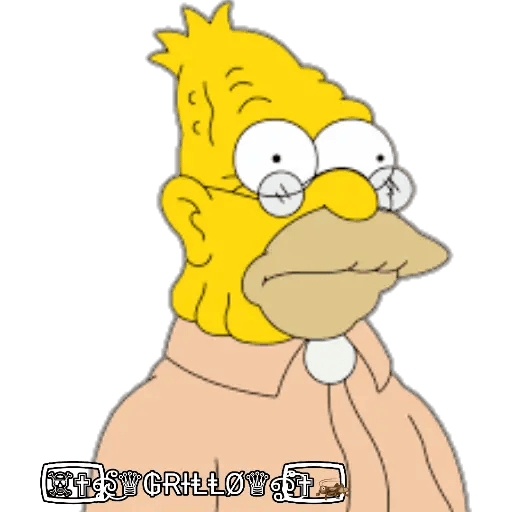 Abuelo Simpson - Sticker 1