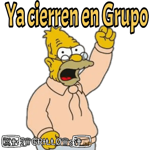 Abuelo Simpson - Sticker 15