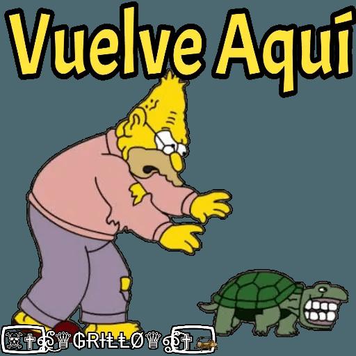 Abuelo Simpson - Sticker 4