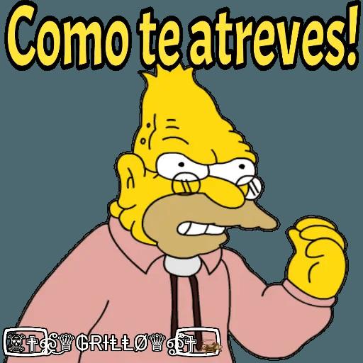 Abuelo Simpson - Sticker 8