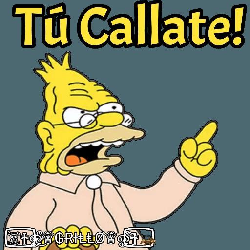 Abuelo Simpson - Sticker 14