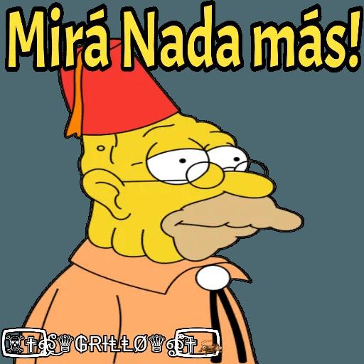 Abuelo Simpson - Sticker 6