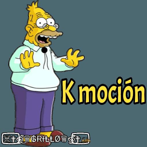 Abuelo Simpson - Sticker 19
