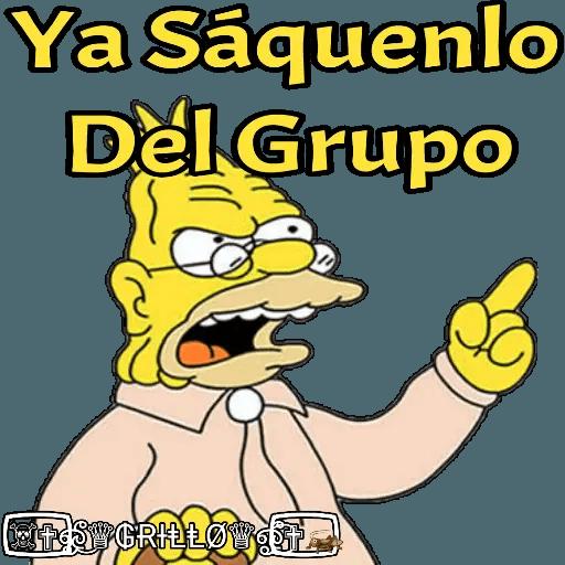 Abuelo Simpson - Sticker 7