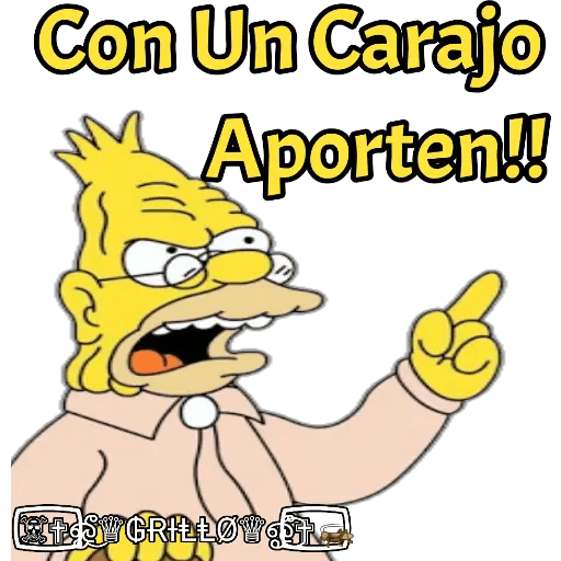 Abuelo Simpson - Sticker 16