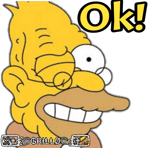 Abuelo Simpson - Sticker 23