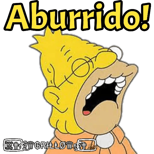 Abuelo Simpson - Sticker 5