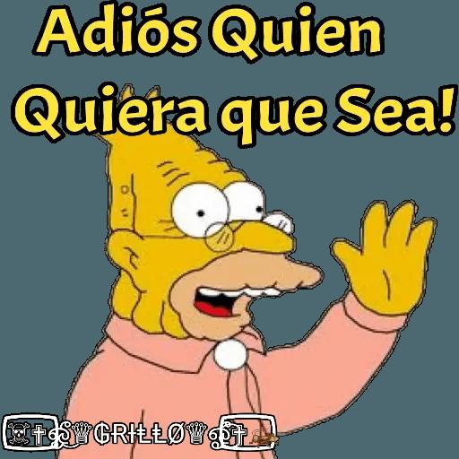 Abuelo Simpson - Sticker 12