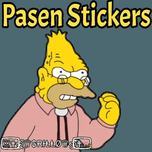 Abuelo Simpson - Sticker 25