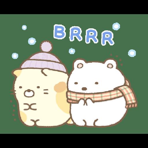 すみっコぐらしの冬スタンプ - Sticker 2