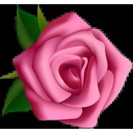 Pink Flowers @ykinanah - Tray Sticker