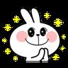 Spoiled rabbit - Tray Sticker