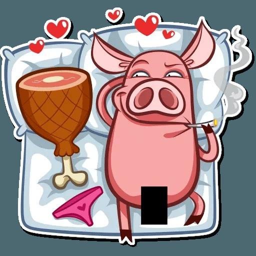 Pig Pete - Sticker 3
