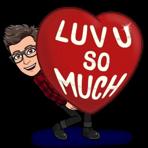 Love you - Tray Sticker