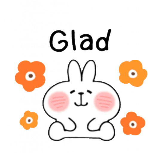 Spoiled rabbit kind word  - Sticker 13