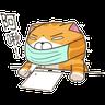 Lazycat-26n - Tray Sticker