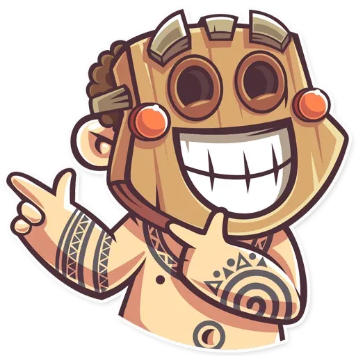 Tribal Masquerade - Sticker 24