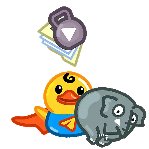 Utya Duck Animated - Sticker 22