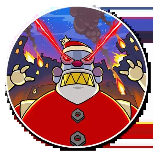 Robo Santa - Sticker 20