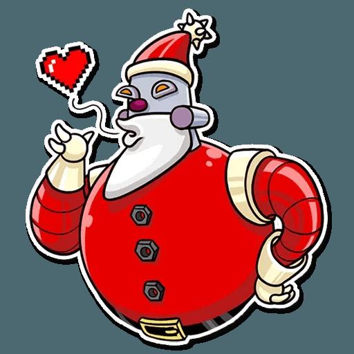 Robo Santa - Sticker 2