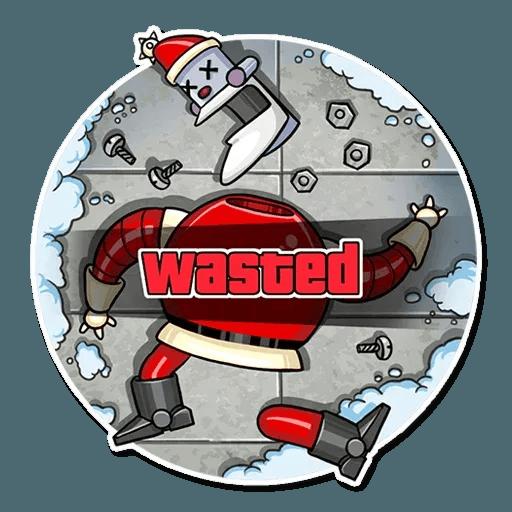 Robo Santa - Sticker 11