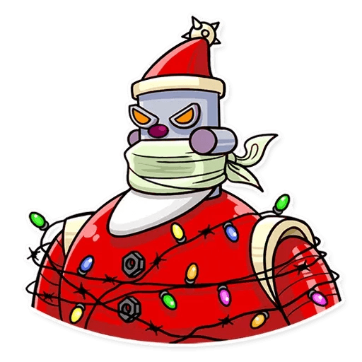 Robo Santa - Sticker 24