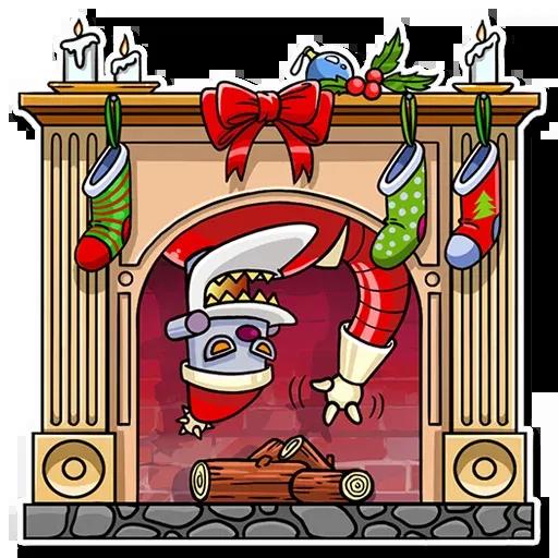 Robo Santa - Sticker 5