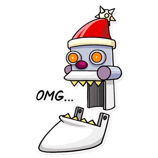 Robo Santa - Sticker 4