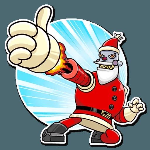 Robo Santa - Sticker 3