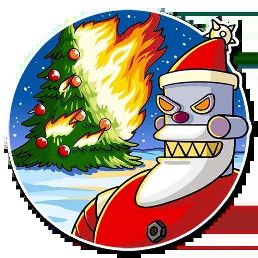 Robo Santa - Sticker 14