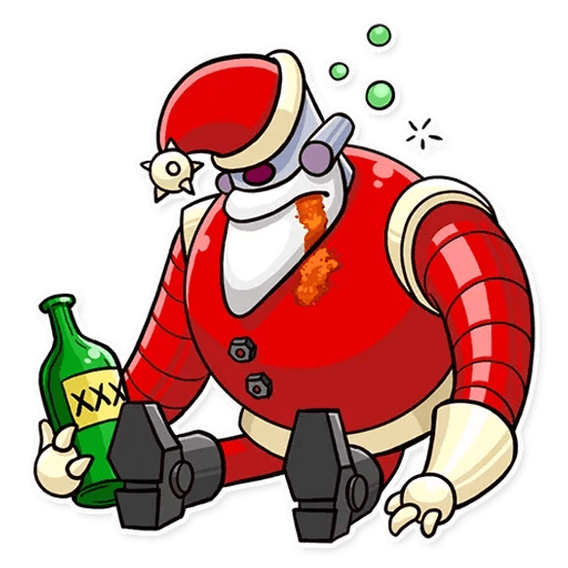 Robo Santa - Sticker 7
