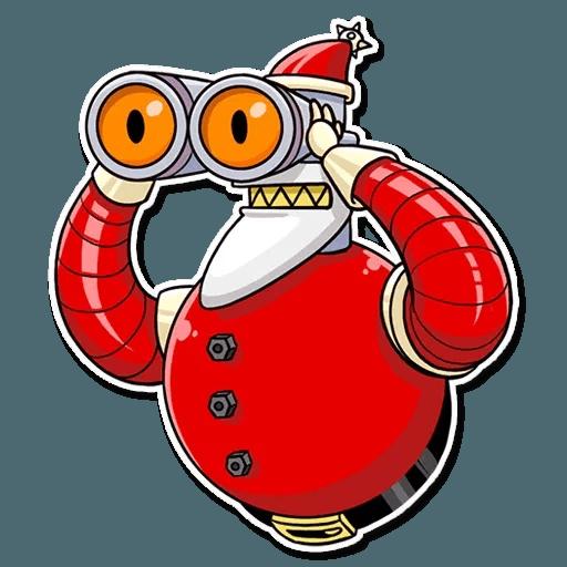 Robo Santa - Sticker 10