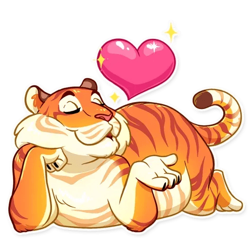 Amur Tiger - Sticker 2