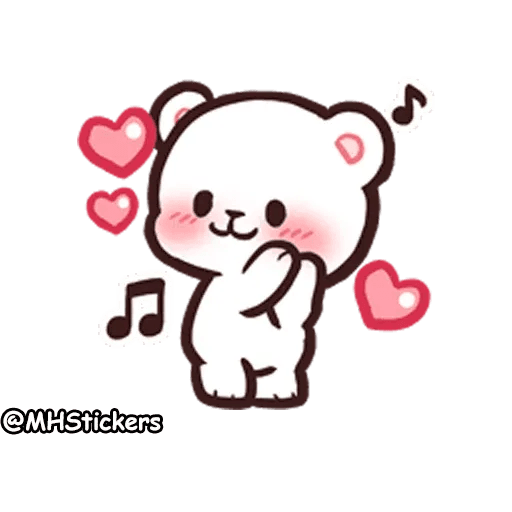 Cute bear - Sticker 29