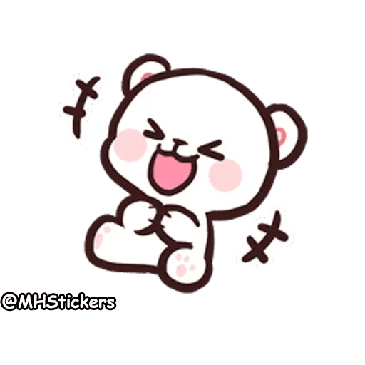 Cute bear - Sticker 19